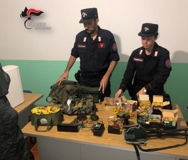 images Lamezia Terme: sequestrati fucili, munizioni e richiami acustici vietati per la caccia