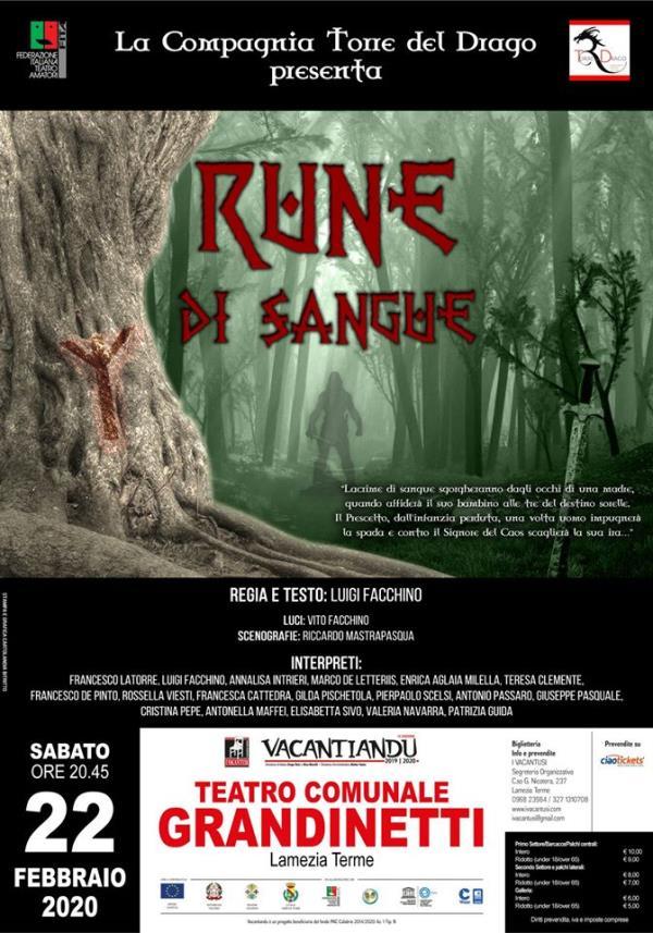 """images Vacantiandu. Dalla Puglia la Compagnia Teatro del Drago con lo spettacolo fantasy """"Rune di sangue"""" al Gran Premio Teatro Amatoriale Italiano"""