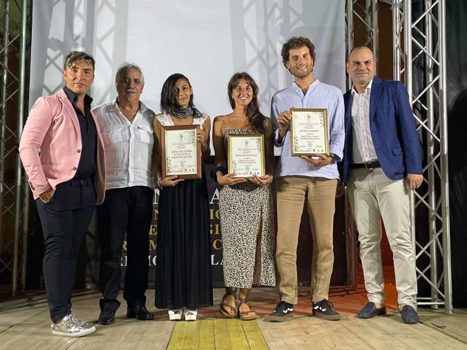 images San Pietro a Maida. Nicola Giampà e Martina Bonfiglio premiati come Maestri d'arte Cinematografica