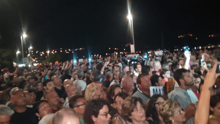 """images Salvini a Soverato, è ancora polemica. L'Usb: """"No agli insulti contro di noi"""""""