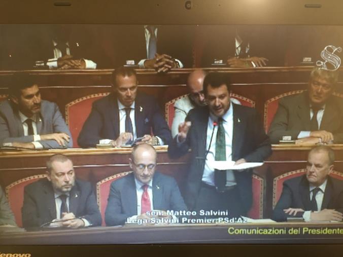 """images Crisi di governo, Salvini: """"Rifarei tutto. Un uomo libero non ha paura delle elezioni"""""""