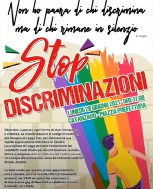 images Il 28 giugno #catanzaronondiscrimina scende in piazza per dire no alle discriminazioni