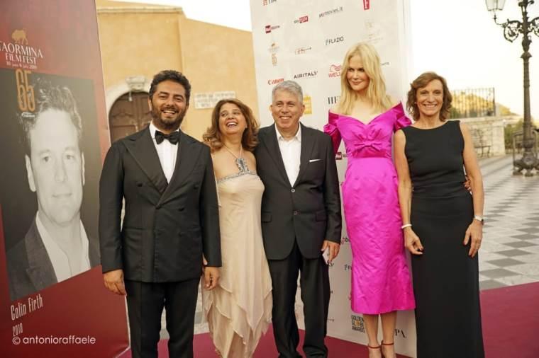images Pierfrancesco Favino premia Nicole Kidman  al Taormina Film Fest