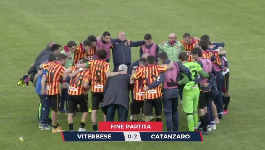 """images Viterbese vs Catanzaro: 0-2 finale. Le Aquile espugnano il """"Rocchi"""" e salgono al secondo posto"""