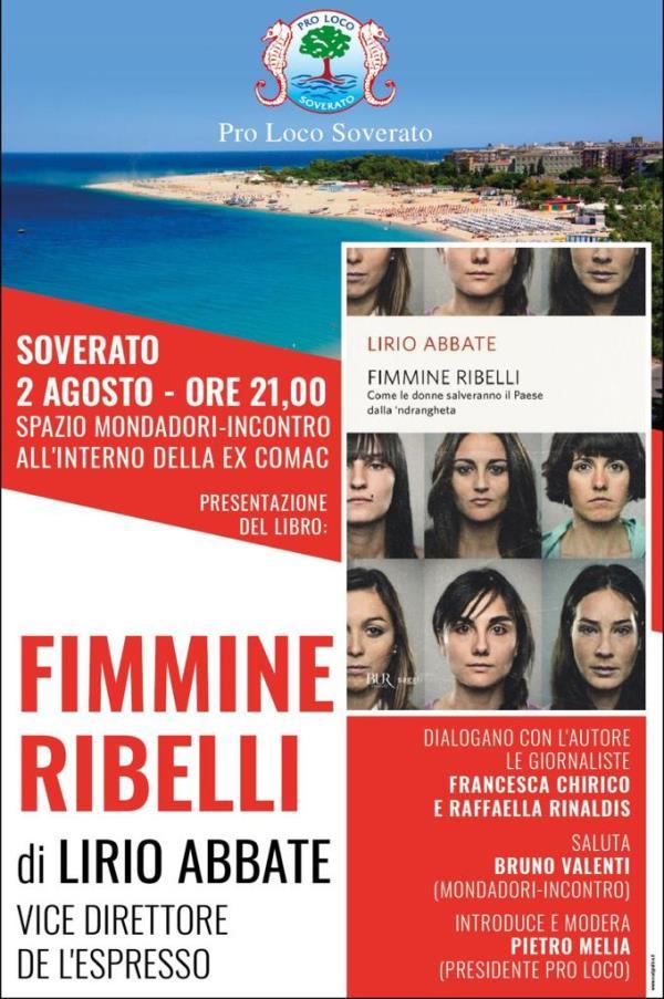 """images """"Fimmine Ribelli"""", stasera a Soverato la presentazione del libro di Lirio Abbate"""