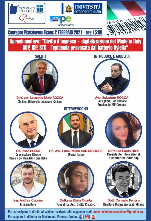images L'Avv. Rocca (MF Crotone) presenta un convegno sul rilancio dell'agricoltura