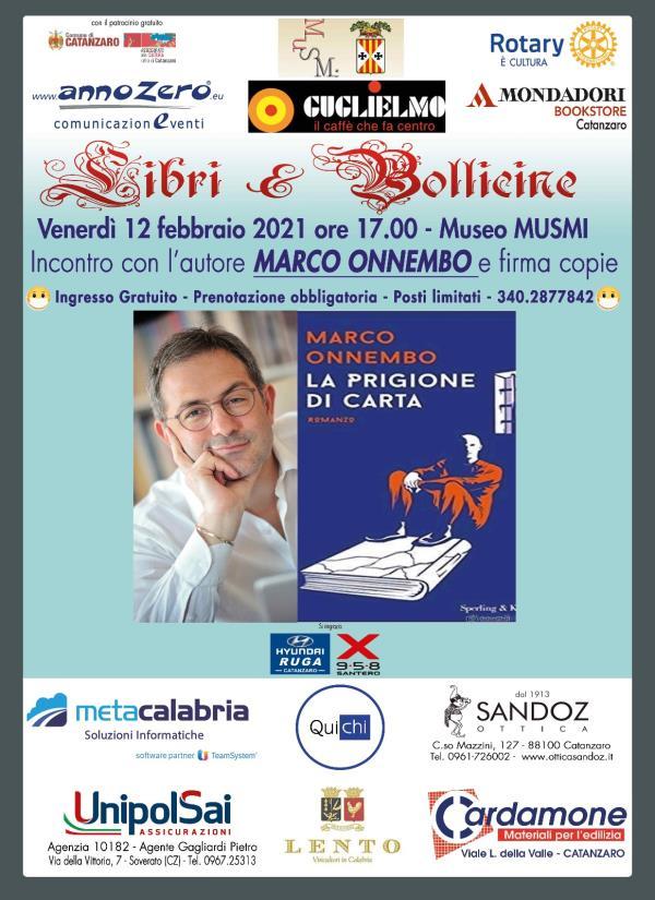 """images Riparte """"Libri e bollicine"""". Il 12 febbraio al Musmi di Catanzaro ospite il giornalista Onnembo"""