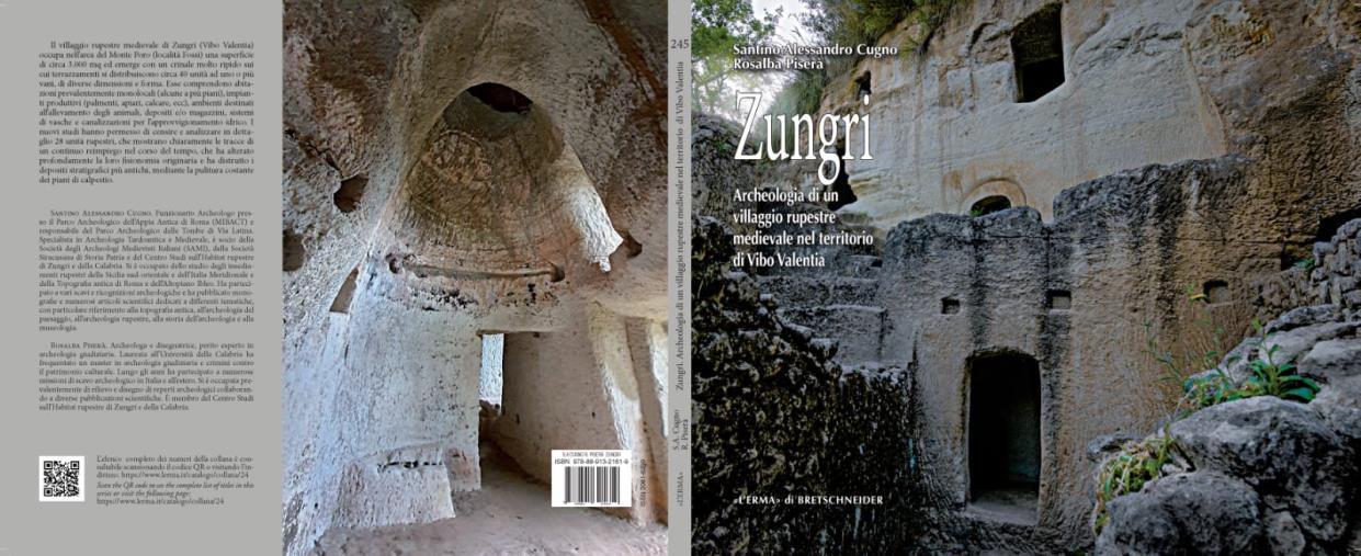 images Il villaggio rupestre di Zungri nel nuovo libro degli archeologi Santino Alessandro Cugno e Rosalba Piserà