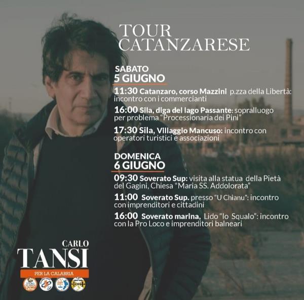 images Regionali. Il tour elettorale di Carlo Tansi questo weekend si sposta nel catanzarese