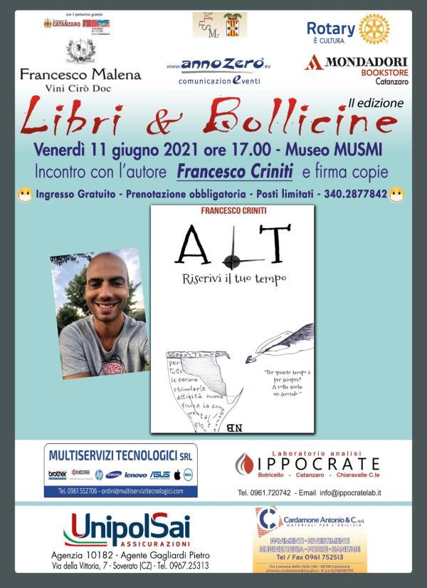 """images Catanzaro. """"Libri & bollicine"""", domani al Musmi sarà presentato il libro di Francesco Criniti"""
