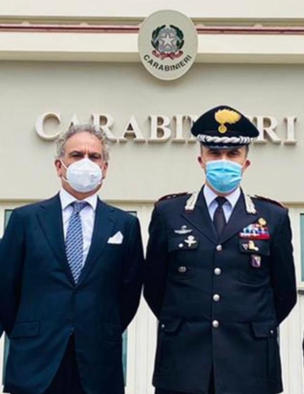 """images Locri. Carè (Pd) visita la sede del gruppo Carabinieri: """"Qui la presenza dell'Arma è forte"""""""