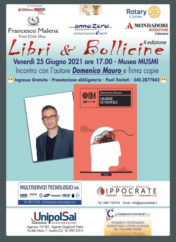 """images """"Libri & bollicine"""". Il 25 giugno incontro finale con Domenico Mauro, al Musmi di Catanzaro"""