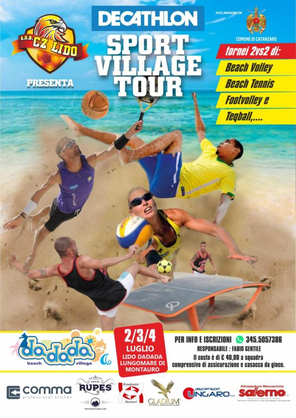 "images Montauro. Al Dadada Beach Village questo weekend arriva lo ""Sport Village Tour"""