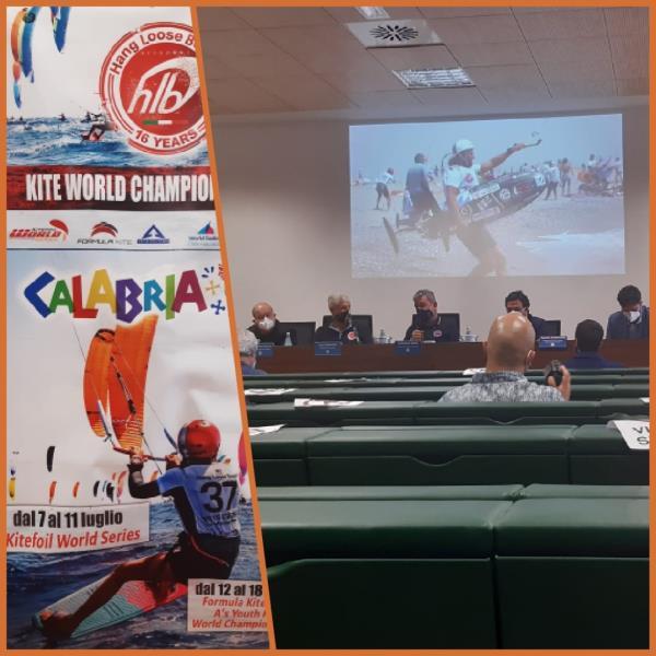 """images Mondiali di Kite surf in Calabria, Taverniti: """"Accoglienza turistica attraverso lo sport"""""""