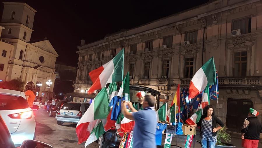 images Europei. Catanzaro si riversa nel centro per festeggiare la vittoria dell'Italia