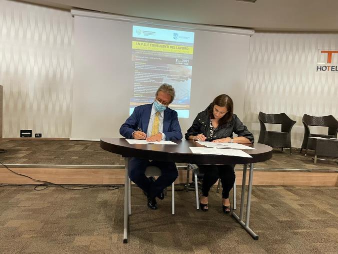 images Lamezia Terme. Inps e Consulenti del Lavoro siglano un'alleanza strategica per la Calabria