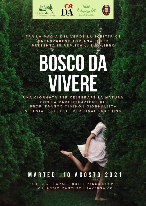 """images Taverna. La scrittrice Adriana Lopez presenterà il Sila il suo ultimo libro, """"Bosco da Vivere"""""""