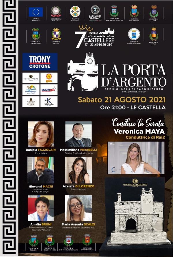 """images Isola Capo Rizzuto. Il 21 agosto si svolgerà la VI edizione di """"La Porta d'argento"""" a Le Castella"""