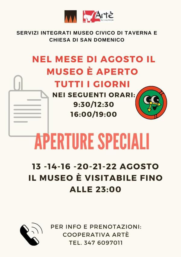 images Taverna. Museo Civico e Chiesa di San Domenico aperti tutti i giorni, anche fino a tarda sera