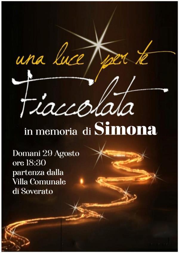 images La città di Soverato dedica una Fiaccolata a Simona Cavallaro