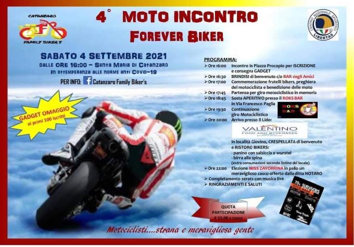 images Catanzaro. Domani il IV Moto Incontro per commemorare i motociclisti defunti (IL PROGRAMMA)