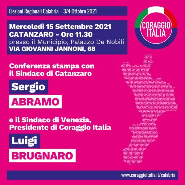 images Regionali. Coraggio Italia: domani conferenza stampa con Abramo e Brugnaro, sindaco di Venezia