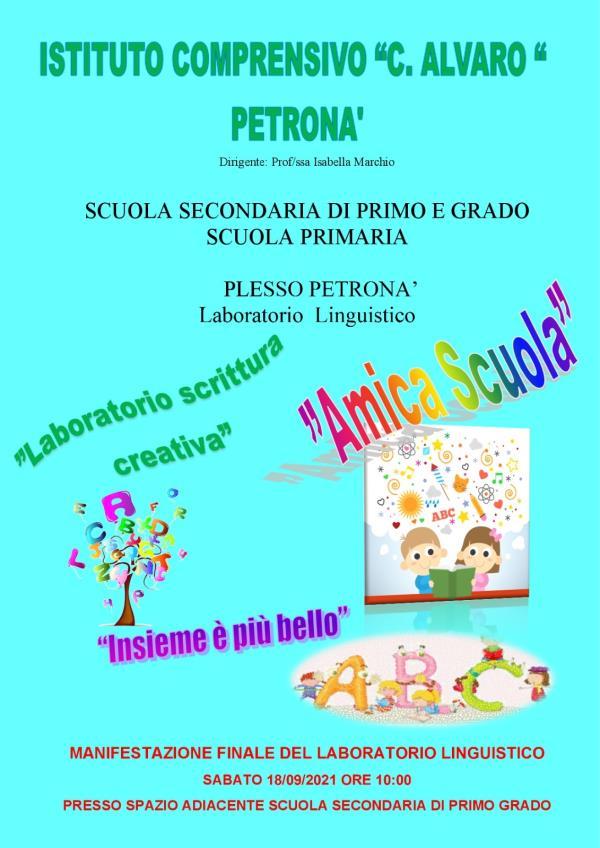"""images Petronà. Scuola, sabato 18 la manifestazione conclusiva del Laboratorio linguistico dell'I.C. """"C. Alvaro"""""""