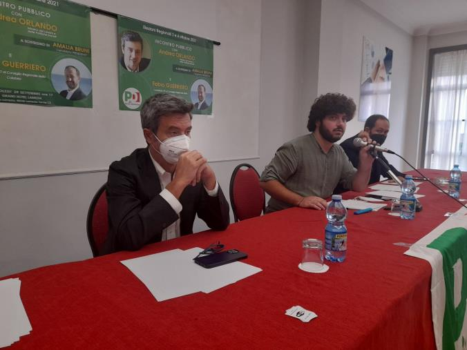 images Regionali. Il ministro Orlando in Calabria a sostegno di Amalia Bruni