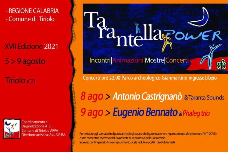 """images Tiriolo. """"Tarantella Power"""": domani gran finale con Eugenio Bennato"""