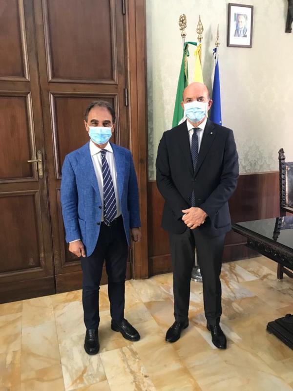 images Catanzaro, il sindaco Abramo ha incontrato il nuovo questore Maurizio Agricola
