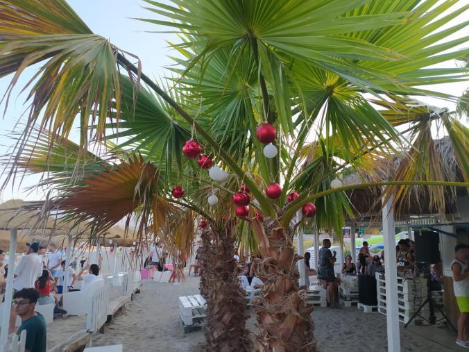 """images Al Dadada beach tutto pronto per festeggiare il """"Natale"""""""