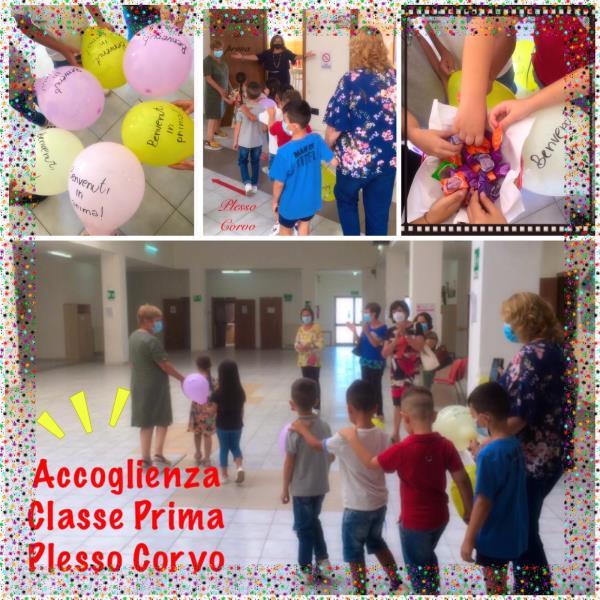 images Catanzaro. L'Istituto 'Casalinuovo Catanzaro Sud'accoglie i bimbi con palloncini, canti e balli