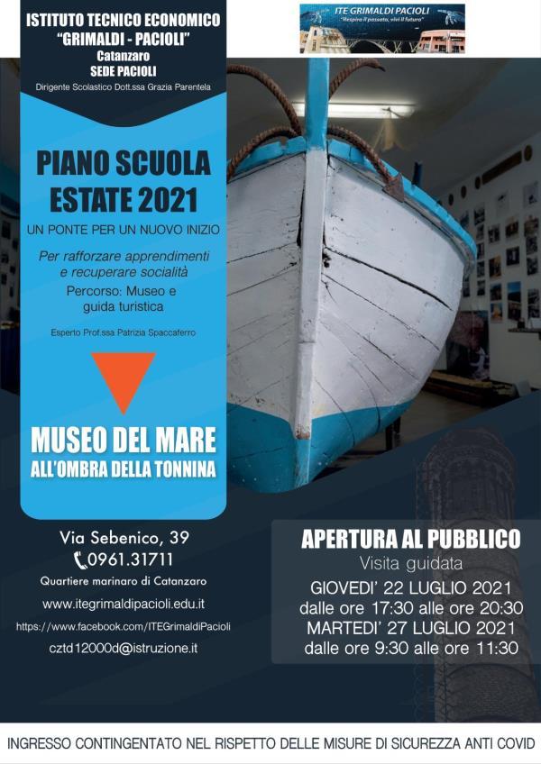 images Catanzaro. Il 'Museo del Mare' dell'Ite Pacioli riapre le porte ai visitatori