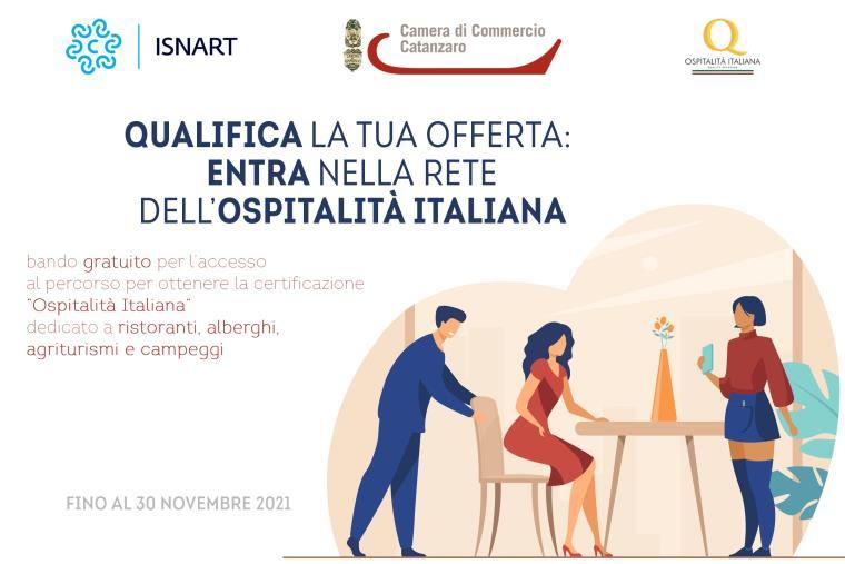 """images """"Ospitalità Italiana"""", il marchio di Camera di commercio e Isnart per certificare la qualità dell'offerta ai turisti in provincia di Catanzaro"""