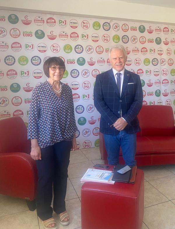 images Regionali. Amalia Bruni incontra il presidente di Confedilizia, Sandro Scoppa