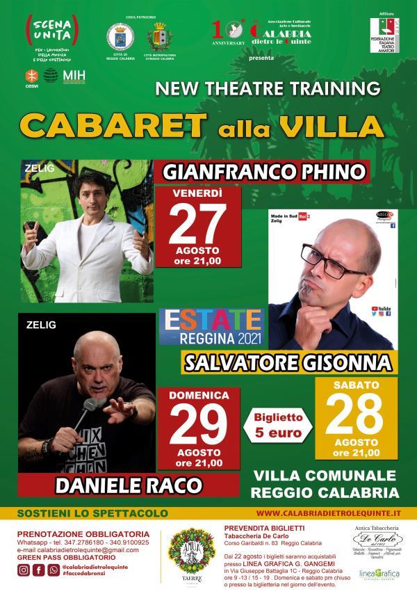 """images Reggio Calabria .""""Cabaret alla Villa"""": dal 27 al 29 agosto la rassegna comica inserita nel cartellone dell'Estate Reggina 2021"""