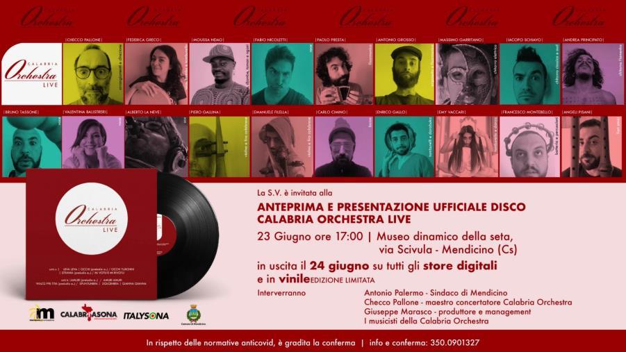 images Calabria Sona e Italy Sona presentano a Mendicino l'esordio discografico della Calabria Orchestra
