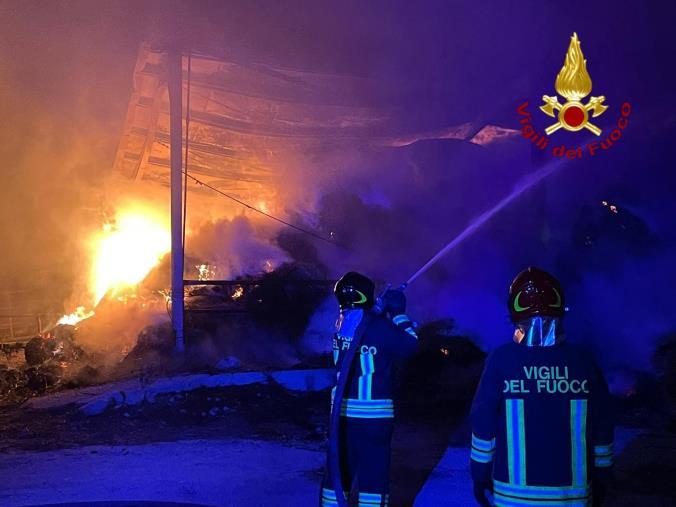 images Incendio capannoni Isola Capo Rizzuto, da ieri sera a lavoro tre squadre dei vigili del fuoco