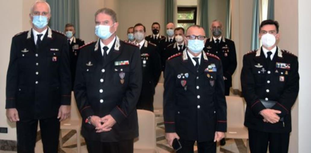 images Carabinieri. I saluti del comandante interregionale agli ufficiali arrivati in Calabria e Sicilia