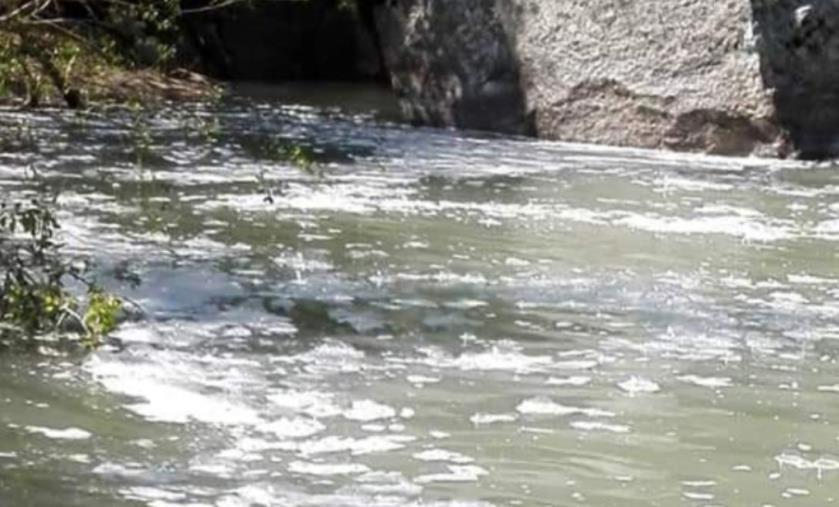 images Squillace, chiazze sospette nel fiume Alessi. La segnalazione di un cittadino (VIDEO)