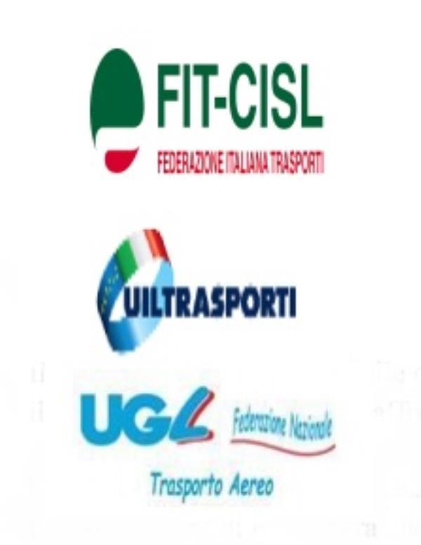 """images Filt-Cgil, Fit-Cisl, Uiltrasporti e Ugl T scrivono al presidente della Sacal: """"Annullare l'esternalizzazione del servizio"""""""