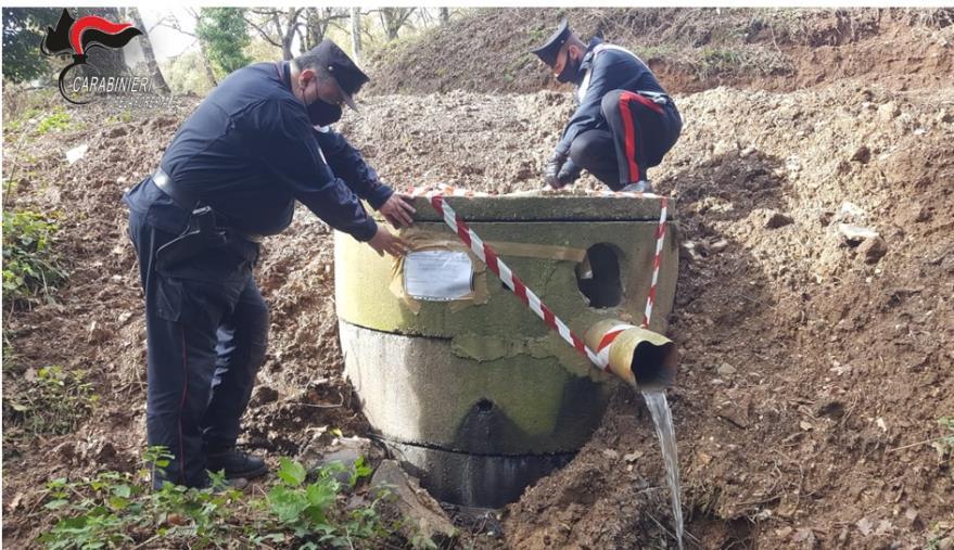 images Platania. Sequestrata una vasca per la raccolta delle acque reflue provenienti dalla condotta fognaria comunale