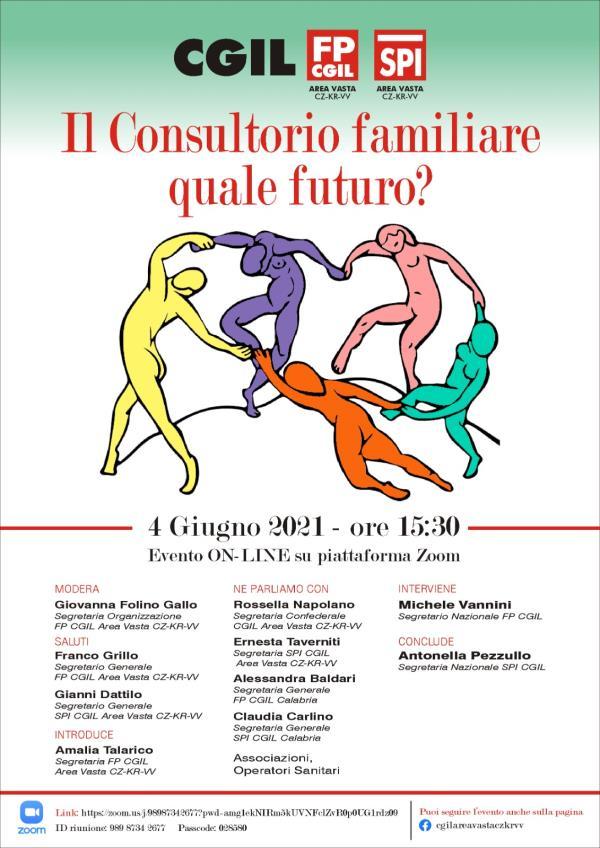 images Il futuro del Consultorio familiare, il tema dell'evento on line della Cgil, Fp Cgil e Spi Area Vasta Catanzaro Crotone
