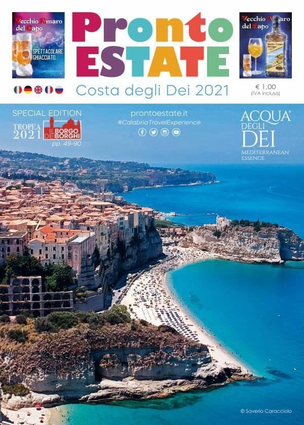 """images Turismo. Esce """"Pronto Estate 2021"""", la guida turistico-informativa multilingua più importante della Calabria"""