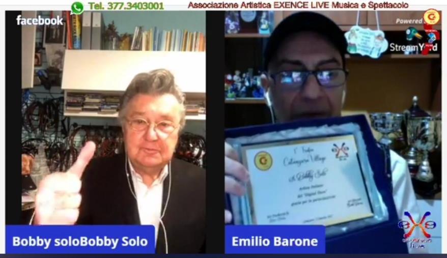 """images """"Digital Show"""", l'abbraccio virtuale di Bobby Solo agli spettatori di Catanzaro Village"""