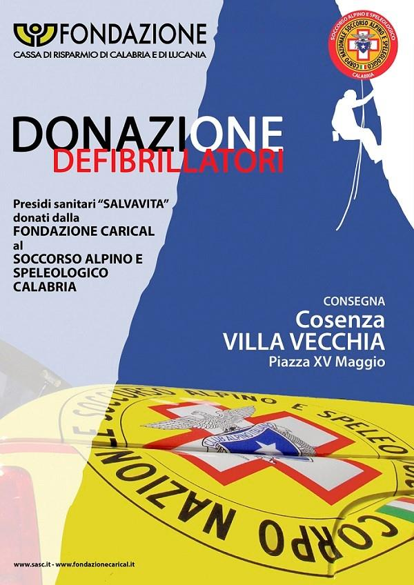 images La Fondazione CARICAL donerà 10 defibrillatori al Soccorso Alpino e Speleologico Calabria