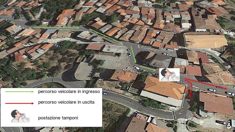 """images Ad Albi scelta l'area drive-in per effettuare i tamponi, il sindaco: """"Non esitate"""""""