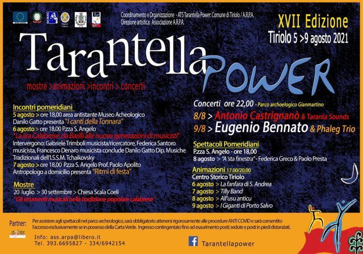 """Tiriolo. Dal 5 al 9 agosto a Tiriolo la VII edizione del """"Tarantella Power"""""""