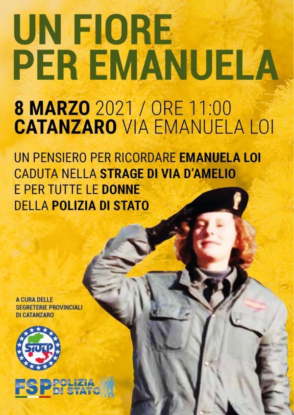 images Sottratto il cartello della via intitolata a Emanuela Loi a Catanzaro:  lo denunciano Siulp e Fsp. Lunedì prevista iniziativa per l'8 marzo
