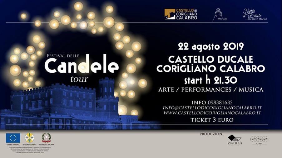 """images  Il """"Festival delle candele"""" illuminerà Palazzo Ducale di Corigliano il 22 agosto"""